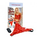 Pulsating  and   Vibrating Ruby Remote Control Thong