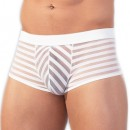 See Through White Striped Boxers